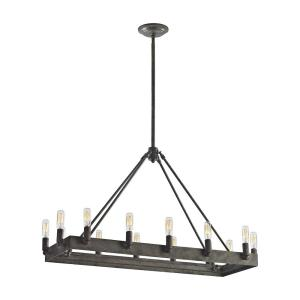 Lewisburg - 4teen Light Chandelier in Transitional Style with Country/Cottage and Southwestern inspirations - 19 Inches tall and 14 inches wide