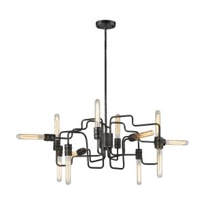 Transit - 12 Light Chandelier in Modern/Contemporary Style with Retro and Urban/Industrial inspirations - 12 Inches tall and 29 inches wide