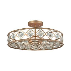Armand - 8 Light Semi-Flush Mount in Traditional Style with Luxe/Glam and Victorian inspirations - 11 Inches tall and 25 inches wide