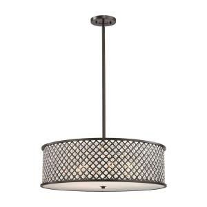 Genevieve - 6 Light Chandelier in Modern/Contemporary Style with Luxe/Glam and Boho inspirations - 10 Inches tall and 29 inches wide