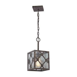Radley - 1 Light Mini Pendant in Transitional Style with Asian and Country/Cottage inspirations - 14 Inches tall and 7 inches wide