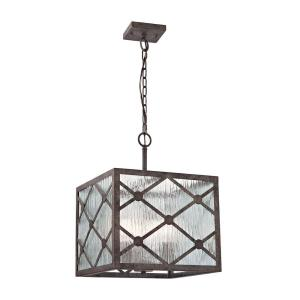 Radley - 3 Light Pendant in Transitional Style with Asian and Country/Cottage inspirations - 19 Inches tall and 14 inches wide