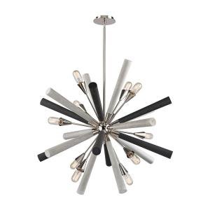 Solara - 10 Light Chandelier in Modern/Contemporary Style with Mid-Century and Scandinavian inspirations - 37 Inches tall and 37 inches wide