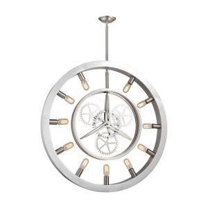 Chronology - 11 Light Chandelier in Modern/Contemporary Style with Urban and Modern Farmhouse inspirations - 39 Inches tall and 3 inches wide