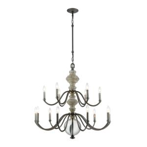 Neo Classica - Fifteen Light Chandelier in Traditional Style with Modern Farmhouse  and Country inspirations - 35 Inches tall and 36 inches wide