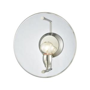 Disco - 1 Light Wall Sconce in Modern/Contemporary Style with Mid-Century and Luxe/Glam inspirations - 12 Inches tall and 12 inches wide