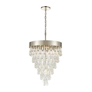 Morning Frost - 5 Light Chandelier in Transitional Style with Shabby Chic and Luxe/Glam inspirations - 25 Inches tall and 18 inches wide