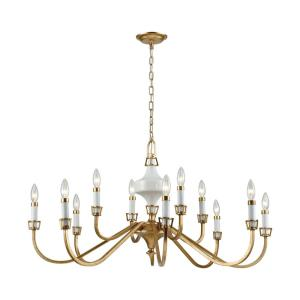 Ceramique - 12 Light Chandelier in Traditional Style with Luxe/Glam and French Country inspirations - 20 Inches tall and 39 inches wide