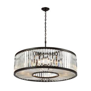 Palacial - 11 Light Chandelier in Traditional Style with Art Deco and Luxe/Glam inspirations - 11 Inches tall and 35 inches wide