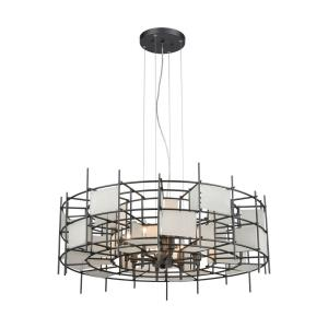 Spanish Alabaster - 8 Light Chandelier in Modern/Contemporary Style with Retro and Eclectic inspirations - 14 Inches tall and 32 inches wide