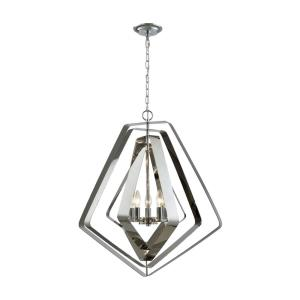 Anguluxe - 5 Light Chandelier in Modern/Contemporary Style with Mid-Century and Retro inspirations - 29 Inches tall and 26 inches wide