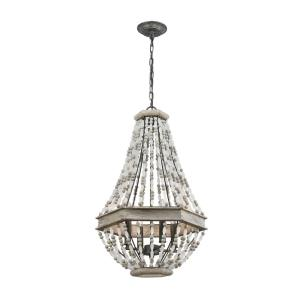 Summerton - 4 Light Chandelier in Traditional Style with Coastal/Beach and Shabby Chic inspirations - 27 Inches tall and 18 inches wide