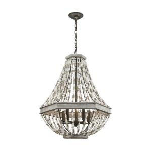 Summerton - 5 Light Chandelier in Traditional Style with Coastal/Beach and Shabby Chic inspirations - 29 Inches tall and 24 inches wide