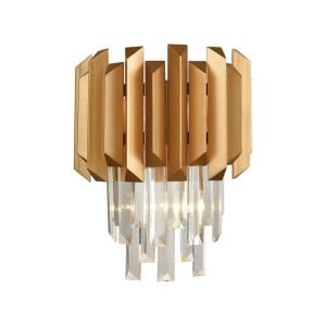Seneca Falls - 2 Light Wall Sconce in Modern/Contemporary Style with Art Deco and Luxe/Glam inspirations - 15 Inches tall and 12 inches wide