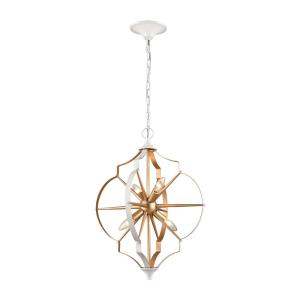 Laguna Beach - 4 Light Chandelier in Modern/Contemporary Style with Mid-Century and Luxe/Glam inspirations - 23 Inches tall and 18 inches wide