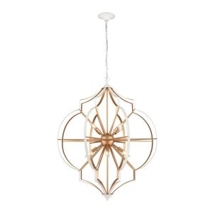 Laguna Beach - 8 Light Chandelier in Modern/Contemporary Style with Mid-Century and Luxe/Glam inspirations - 41 Inches tall and 35 inches wide
