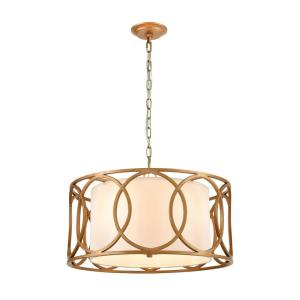 Ringlets - 4 Light Chandelier in Modern/Contemporary Style with Mid-Century and Luxe/Glam inspirations - 11 Inches tall and 22 inches wide