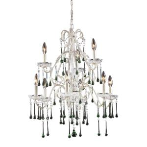 Opulence - 9 Light Chandelier in Traditional Style with Shabby Chic and Vintage Charm inspirations - 28 Inches tall and 25 inches wide