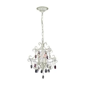 Elise - 3 Light Chandelier in Traditional Style with Shabby Chic and Vintage Charm inspirations - 15 Inches tall and 13 inches wide