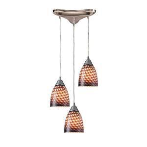 Arco Baleno - 3 Light Triangular Pendant in Transitional Style with Boho and Eclectic inspirations - 7 Inches tall and 5 inches wide