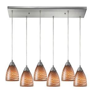 Arco Baleno - Six Light Rectangular Pendant