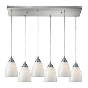 Arco Baleno - Six Light Rectangular Pendant