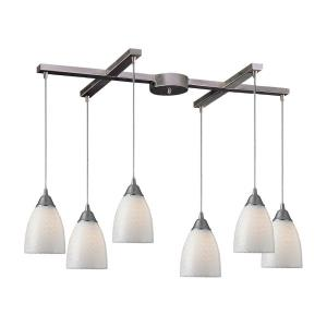Arco Baleno - 6 Light Rectangular Pendant in Transitional Style with Boho and Eclectic inspirations - 9 Inches tall and 9 inches wide