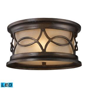 Burlington Junction - Two Light Outdoor Flush Mount