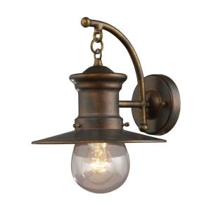 Maritime - 1 Light Outdoor Wall Lantern in Transitional Style with Vintage Charm and Rustic inspirations - 12 Inches tall and 9 inches wide