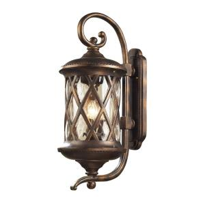 Barrington Gate - 3 Light Outdoor Wall Lantern in Traditional Style with Victorian and Country inspirations - 28 Inches tall and 11 inches wide