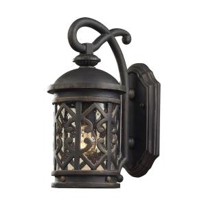 Tuscany Coast - 1 Light Outdoor Wall Lantern in Traditional Style with Southwestern and Country inspirations - 14 Inches tall and 6 inches wide