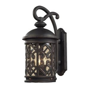 Tuscany Coast - 2 Light Outdoor Wall Lantern in Traditional Style with Southwestern and Country inspirations - 18 Inches tall and 8 inches wide