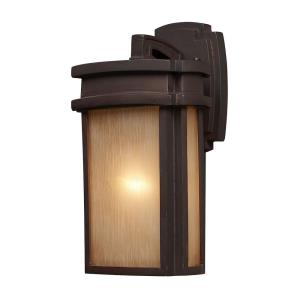 Sedona - 1 Light Outdoor Wall Lantern in Transitional Style with Mission and Vintage Charm inspirations - 13 Inches tall and 7 inches wide