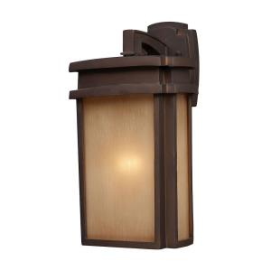 Sedona - 1 Light Outdoor Wall Lantern in Transitional Style with Mission and Vintage Charm inspirations - 16 Inches tall and 9 inches wide