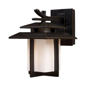 Kanso - 1 Light Outdoor Wall Lantern in Transitional Style with Asian and Mission inspirations - 11 Inches tall and 8 inches wide