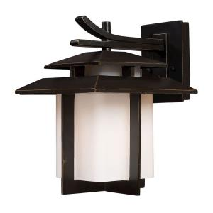 Kanso - 1 Light Outdoor Wall Lantern in Transitional Style with Asian and Mission inspirations - 13 Inches tall and 10 inches wide