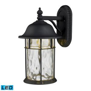 Lapuente - 6W 1 LED Outdoor Wall Lantern in Transitional Style with Southwestern and Vintage Charm inspirations - 14 Inches tall and 7.62 inches wide