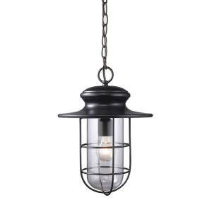 Portside - 1 Light Outdoor Pendant in Transitional Style with Urban/Industrial and Coastal/Beach inspirations - 16 Inches tall and 11 inches wide