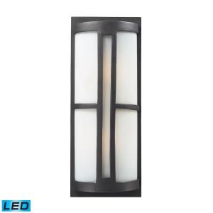 Trevot - 2 Light Outdoor Wall Sconce in Modern/Contemporary Style with Art Deco and Mission inspirations - 22 Inches tall and 9 inches wide