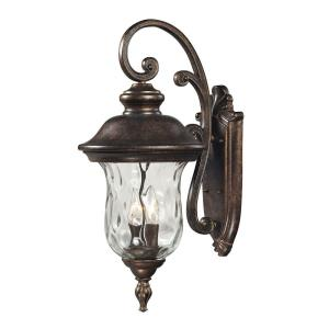 Lafayette - 2 Light Outdoor Wall Sconce in Traditional Style with Victorian and Rustic inspirations - 22 Inches tall and 10 inches wide