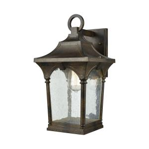 Loringdale - 1 Light Outdoor Wall Sconce in Traditional Style with Country/Cottage and Southwestern inspirations - 16 Inches tall and 8 inches wide