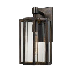 Bianca - 1 Light Outdoor Wall Lantern in Transitional Style with Mission and Southwestern inspirations - 16 Inches tall and 8 inches wide