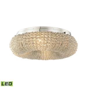 Crystal Ring - 19.2W 4 LED Semi-Flush Mount in Modern/Contemporary Style with Luxe/Glam and Retro inspirations - 7 Inches tall and 13 inches wide