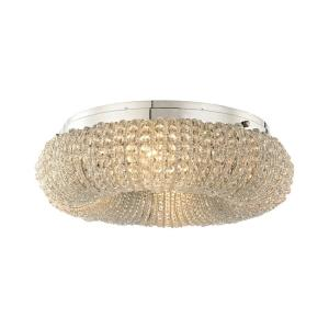 Crystal Ring - 4 Light Semi-Flush Mount in Modern/Contemporary Style with Luxe/Glam and Retro inspirations - 7 Inches tall and 13 inches wide