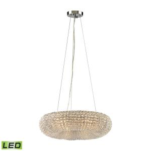 Crystal Ring - 28.8W 6 LED Chandelier in Modern/Contemporary Style with Luxe/Glam and Retro inspirations - 5 Inches tall and 18 inches wide