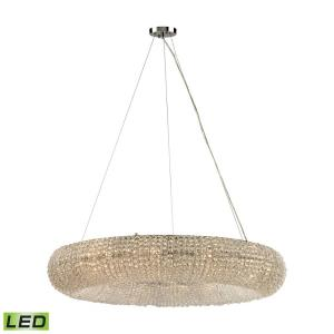 Crystal Ring - 57.6W 12 LED Chandelier in Modern/Contemporary Style with Luxe/Glam and Retro inspirations - 7 Inches tall and 37 inches wide