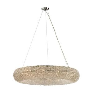 Crystal Ring - 12 Light Chandelier in Modern/Contemporary Style with Luxe/Glam and Retro inspirations - 7 Inches tall and 37 inches wide