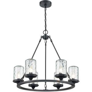 Torch - Six Light Outdoor Chandelier