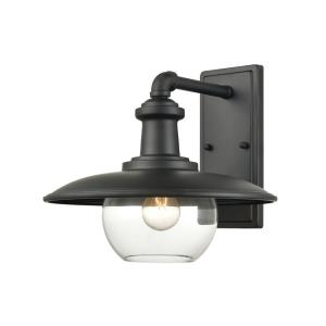 Jackson - 1 Light Outdoor Wall Sconce in Traditional Style with Modern Farmhouse and Urban/Industrial inspirations - 11 Inches tall and 11 inches wide