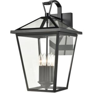 Main Street - 4 Light Outdoor Wall Sconce in Traditional Style with Victorian and Country/Cottage inspirations - 21 Inches tall and 12 inches wide